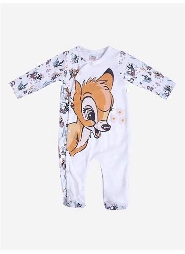 Bambi Bambi Lisanslı Bebek Patikli Tulum 18530 Ekru